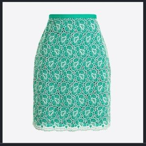 J. Crew Flounce Skirt with Floral Embroidery Sz 0